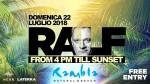Rambla domenica 22 luglio – DJ RALF – FREE ENTRY 22 luglio 2018