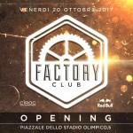 Factory Roma 21 ottobre 2017
